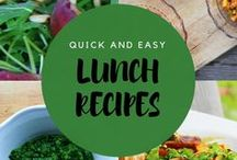 Quick & Easy  - Lunch Recipes / Lunch ideas to keep you going throughout the week. Healthy  food recipes.