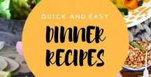 Quick & Easy  - Dinner Recipes / Dinner ideas to keep you going throughout the week. Healthy  food recipes.