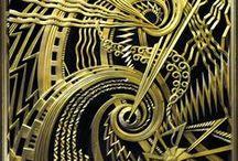 Art Dèco / El art déco fue un movimiento de diseño popular a partir de 1920 hasta 1939 (hasta la década de 1950 en algunos países) que influyó las artes decorativas tales como arquitectura, diseño interior, y diseño gráfico e industrial, también a las artes visuales tales como la moda, pintura, grabado, escultura y cinematografía