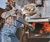 Mujeres Trabajando / El quehacer diario de una casa ya es un trabajo, y bastante pesado. Imaginen lo que es tener, además, otro trabajo, o sea, terminar uno y seguir con el otro... ¿A qué hora se descansa?