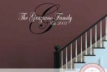 Family Name & Quote Wall Decals