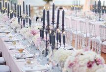 wedding inspiration: pink & grey