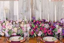 wedding inspiration: table / table styling + centrepieces