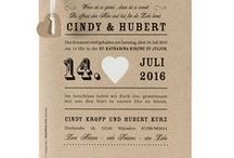 Hochzeitseinladungen aus Kraftpapier / Vintage, Rustikal, Modern - Lasst Euch von den bezaubernden Hochzeitskarten aus Kraftpapier inspirieren!  ❤