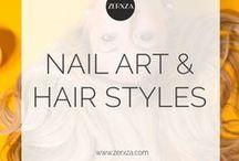 Nail Art & Hair Style Ideas / Beautiful and artsy nails, nail tutorials, hair styles and more!