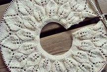 Вязание. Кокетки круглые