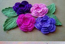 Вязание.Цветы, мотивы, аппликации