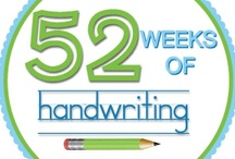 52 Weeks of Handwriting / A year's worth of weekly Handwriting Ideas!