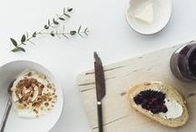 Brunch \\ Recipes / Jams and Scones, Eggs and herbs. Ideas for that in-between meal.