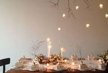 Gatherings \\ Perfect Dinner Parties / From warm lights to linens and greenery. A variety of gatherings. Summer nights and spring parties. Elegant. Cohesive. Welcoming.