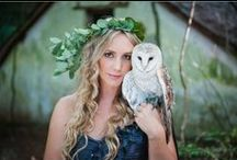 magical forest owl shoot. Lauren Kriedemann Photography / forest, magical, enchanted, owl, wedding theme, portraits