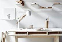 Studio \\ Workspace / Organization. Creative workspace. Windows, open and airy. Storage and design.