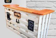 Ideas para Bar / Aquí encontrarás ideas y algunos de nuestros proyectos realizados para construir y renovar tu bar con un estilo sustentable y acogedor!