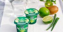 Nouveautés Fruits : Goji et Aloe Vera / Pour vous apporter encore plus de plaisir, Activia innove et vous propose l'association originale de la Baie de Goji ou l'Aloe Vera à ses fruits traditionnels.