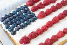Celebrate - Memorial Day, Fourth of July, and Labor Day / Patriotic, red, white and blue, and summer recipes and treats for all of your Memorial Day, 4th of July, Labor Day and other all-American holidays and celebrations.