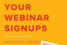 Webinars / Like it or not, video is where it's at. It's driving sales, donations, and conversions. And it's a great way to draw attention to yourself, your cause, and your organization. I webinar I webinar planning I webinar creation I webinar management