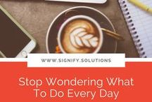 Productivity / Small business owners, solopreneurs, and entrepreneurs of nonprofits and social enterprises always have too much on their plate! Here are some productivity tips to help you better manage your day.