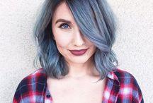 Grey silver blue