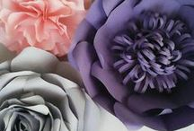 paper flowers events / backdrops, events decor