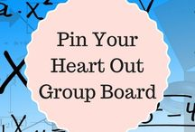 Pin Your Heart Out Group Board / A group board for all my followers and sweet people that let me join your group board  This board has no daily pin limit but please don't pin more than 4 pins in a row at one time.  Only family friendly pins please.  To join, please FOLLOW MY PROFILE, not just the board, then email me at themakeupequation@ gmail dot com and send me your pinterest URL link. Thank you to all my followers, XOXO.