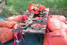 Soiree / Party ideas, small space entertaining, photo backdrops, favors, center pieces