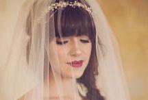 Wedding Hair with Veils and Tiaras