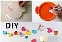 Kids artistic activities volume / sculpture diy cardboard recylcing mobile / by virginie Carrion