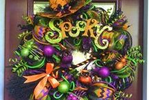 Fall and Holloween Wreaths