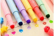 School Supplies!!! / Amo essa pasta,mochilas,estojos e canetas especiais coloridas....Muito mais!!!!!