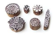 Wooden Printing Block Stamps / Find great sale deals of Wooden Printing Blocks, Wooden Printing Stamps at https://shop.royalkraft.com. These wooden printing blocks are made from rosewood wood that have been hand carved with multi patterns, text, as well as images. These wooden block stamps can be used for block printing on different fabrics like cushion covers, bed sheets, table cloth using different fabric paints.
