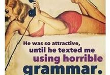grammar / by Monica Eustace