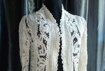 Edwardian Era Soutache & Battenberg Lace / Fabrics made with ribbon & trims - Jackets from Downton Abbey / by Bonne Marie Burns
