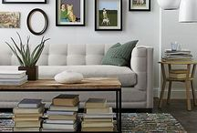 Spaces / Home decor, painted walls, design and furniture.