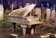 Unique Headstones / For some reason I have always had a fascination with graveyards and grave stones; I find them peaceful as well as fascinating.  The pins I have here are of very unusual stones. / by Wendy Porter-Ouellet