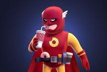 Hero Worship / Super Hero Hype / Product Parody
