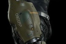 Mecha / All things mechanized, especially robots, androids, cyborgs and exo suits.
