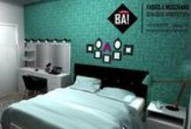 PROJETO - Interiores Dormitório / Projetos de Arquitetura de autoria de Fabiola Noschang http://www.bonjourarquitetura.com.br/ / by Bonjour Arquitetura * Fabi