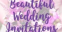 Beautiful Wedding Invitations / We all love beautiful wedding invitation stationery - especially when it is affordable and customizable! You are welcome to join our collaborative board if you feel the same way! Contact us @cedarandstring to request an invite.  Disclosure: there are some #ad posts on this board, but I love it all!