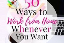 Working from Home / How to earn a living and make a profit working from home.  Looks at work from home job opportunities, how to make a profit, earning money online and freelance writing.