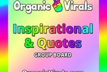 Inspirational & Quotes Group Board / Everything Inspirational & Quotes! If you'd like to contribute to this board then follow us at pinterest.com/organicvirals and then go to organicvirals.com to fill out our Contact Us form with your details and you'll get added within 24 hours guaranteed! Max 5 pins per day and please repin 1 post for every pin that you add. Feel free to invite your friends or anyone else you think would like to contribute!