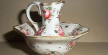 * Porcelain - Water Pitcher and Matching Wash
