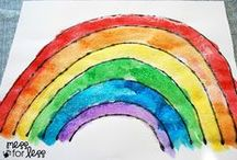 Art for Kids / Ideas for ways that kids can create art. (Open ended art, not just crafts!)