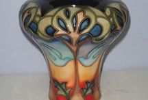 Moorcroft / Moorcroft art pottery has been in business over a hundred years and remains located in Stoke-on-Trent, England.  A visit to the shop there is highly encouraged.  Seeing these piece in person brings a new awareness of the high quality art in every piece of Moorcroft. / by Tracy Matheny