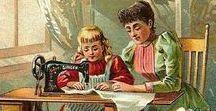 Швеи / Женщины занятые шитьём