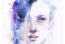 Watercolour Faces