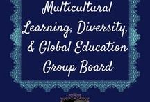 Multicultural Learning, Diversity, & Global Education Group Board / Ideas to teach our children about world cultures, languages, diverse perspectives, and about the world's beautiful people, as well as to promote compassion and tolerance.  #globaleducation, #diversity, #culturaldiversity, #multicultural, #linguisticdiversity.   No pin limit, but pin one of someone else's for every pin you contribute.  No nudity or spam.  To be added as a contributor, please follow me and all of my boards (Look for Little Helpers), and send me a message.  I will add you ASAP!