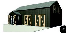 Canterbury Plains - Traditional Barn / Macfie Architectural Design - New Barn Studio on the Canterbury Plains, New Zealand.