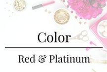 Color - Red & Platinum