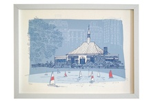 central park sketchbook / From artist Adrienne Wong, this whimsical series of limited edition hand-pulled silkscreens for the kids and nursery market features Central Park landmarks in a classic children's book illustration style / by The Municipal Prints Company