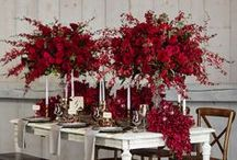 red / all red wedding inspiration